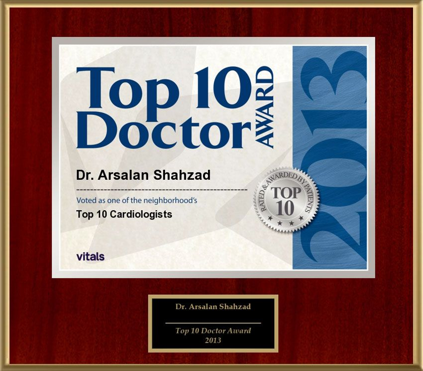 Vitals Top 10 Cardiologists 2013